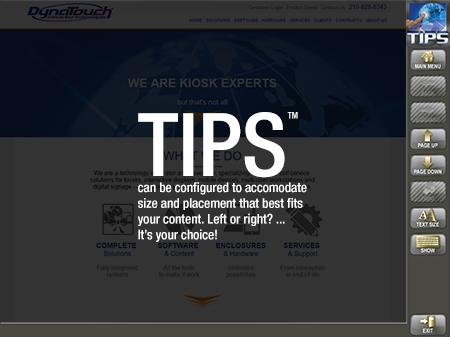 TIPS Kiosk Management Software - TIPS Toolbar Configuration